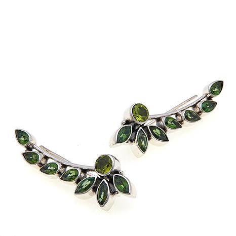 solid silver green stone cm item earrings chanti international simple peridot deco genuine studs