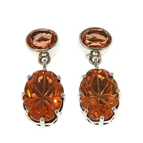 Nicky Butler Orange Quartz Drop Earrings