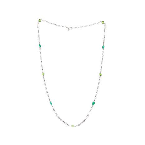 Nicky Butler Quartz and Chalcedony Station Necklace