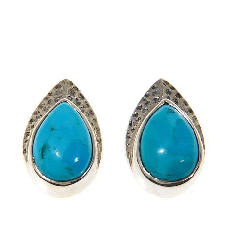 Nicky Butler Turquoise Hammered Earrings