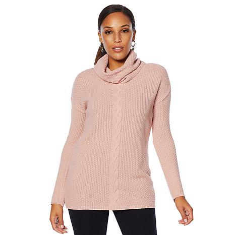 Nina Leonard Braided Stitch Sweater