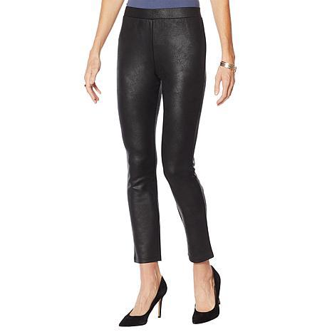 Nina Leonard Faux Leather Novelty Legging