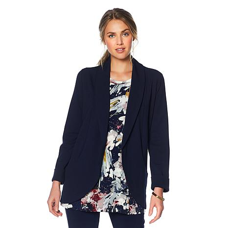 Nina Leonard High-Tech Crepe Easy Blazer