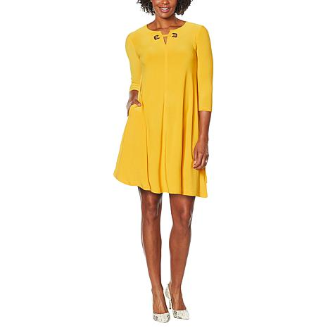 Nina Leonard Miracle Matte Jersey Trapeze Dress