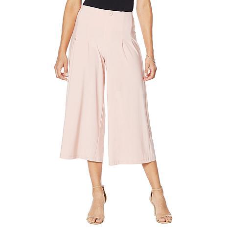 Nina Leonard Popover Tunic Palazzo Pant Jumpsuit Caramel XL NEW 703-533