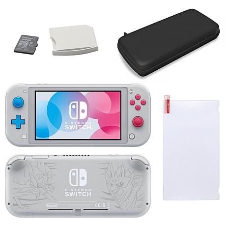 Nintendo Switch Lite With Zacian and Zamazenta with SD Card and Car...