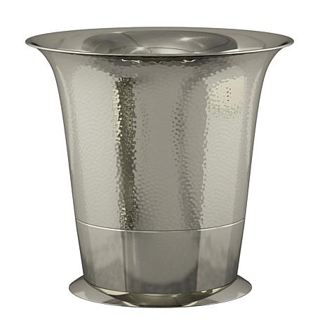 Nu-Steel Classic Hammered Stainless Steel Wastebasket