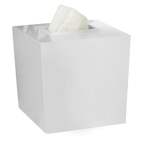 Nu-Steel Elegant White Boutique Tissue Holder
