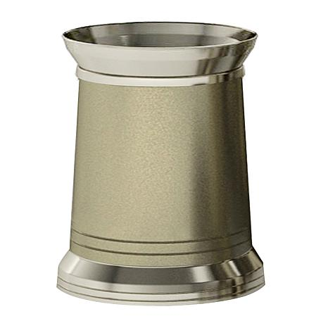 Nu-Steel Lighthouse Matte & Polished Wastebasket