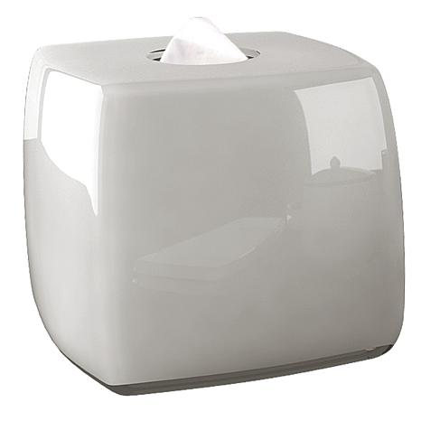 Nu-Steel Roly Poly White Boutique Tissue Holder