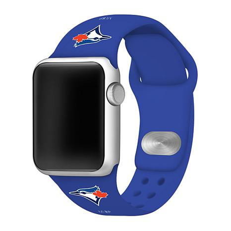 Officially Licensed MLB 42/44mm Apple Watch Band - Toronto Blue Jays