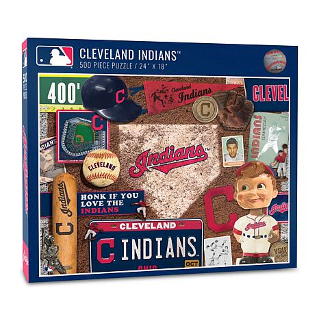 Officially Licensed MLB Cleveland Indians Retro 500-Piece Puzzle