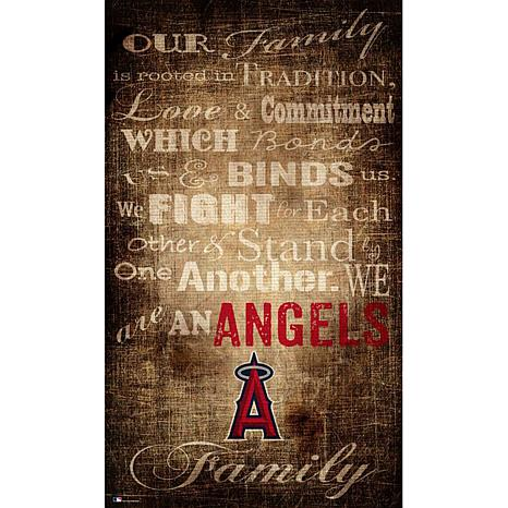 Officially Licensed Mlb Our Family Canvas Anaheim Angels 8752644