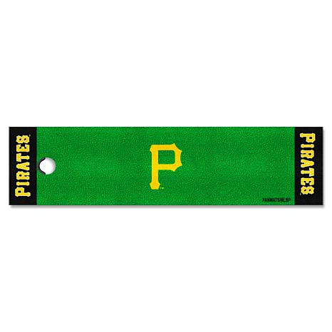 Officially Licensed MLB Putting Green Mat  - Pittsburgh Pirates