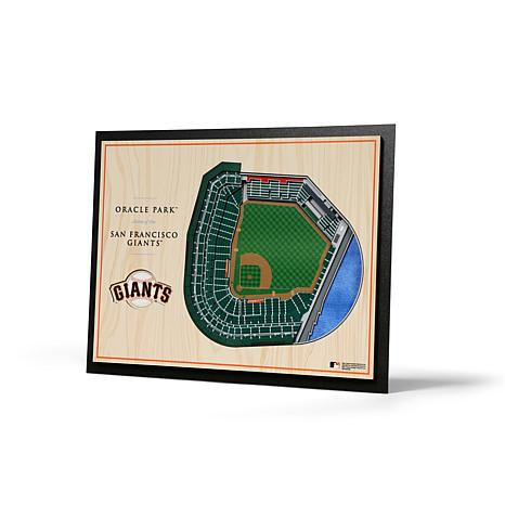 Officially Licensed MLB SF Giants 5-Layer StadiumViews 3-D Wall Art