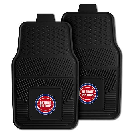 "Officially Licensed NBA 2pc Car Mat Set 17"" x 27"" - Detroit Pistons"