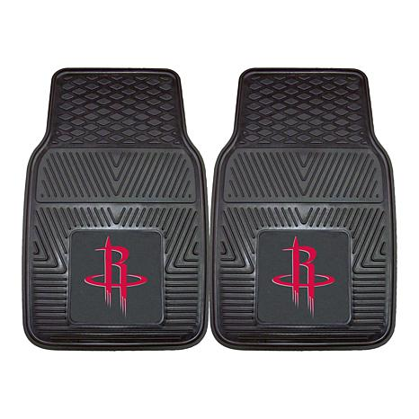 """Officially Licensed NBA 2pc Car Mat Set 17"""" x 27"""" - Houston Rockets"""