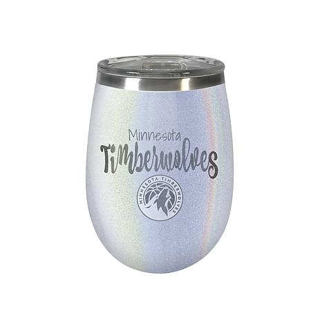 Officially Licensed NBA Opal Wine Tumbler - Minnesota Timberwolves