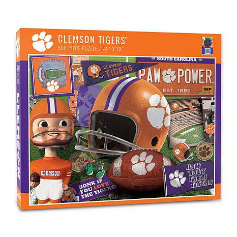 Officially Licensed NCAA Clemson Tigers Retro Series 500-Piece Puzzle