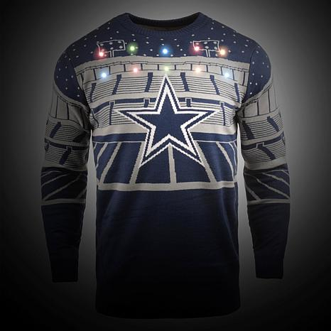 innovative design 214ba 1c078 Officially Licensed NFL 2018 Bluetooth Light-Up Sweater by Team Beans -  Cowboys