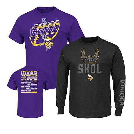Officially Licensed NFL 3-in-1 T-Shirt Combo by Fanatics - Vikings ... e2b18c008
