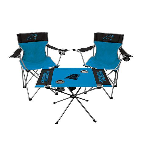 Astounding Officially Licensed Nfl 3 Piece Tailgate Kit Panthers Gmtry Best Dining Table And Chair Ideas Images Gmtryco
