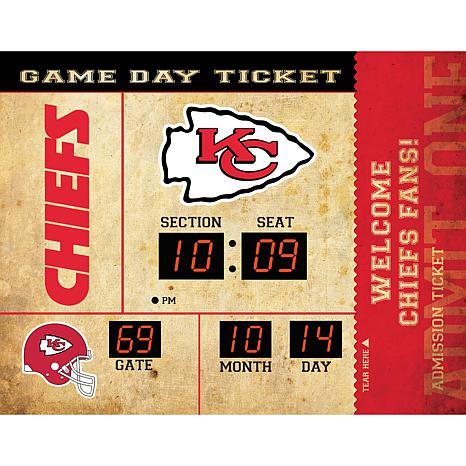 Officially Licensed NFL Bluetooth Scoreboard Wall Clock - Chiefs