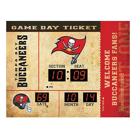 Officially Licensed NFL Bluetooth Wall Clock - Bucs - 8628480 | HSN