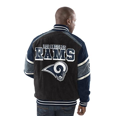 promo code 19943 aaf74 Officially Licensed NFL Colorblocked Suede Jacket by Glll - Rams