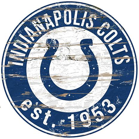 Officially Licensed NFL Distressed Wall Art - Colts - 8556888 | HSN