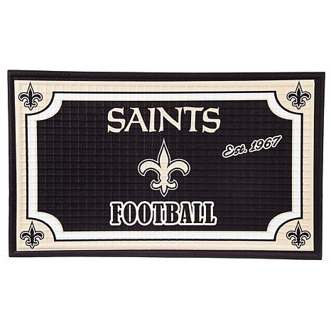 Officially Licensed NFL Embossed Door Mat - Saints