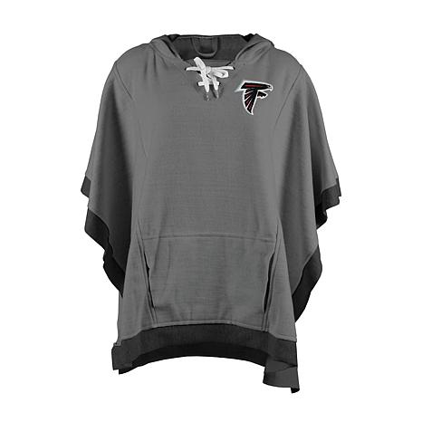 super popular e909a 026be new! Officially Licensed NFL Heathered Hoodie Poncho - Atlanta Falcons