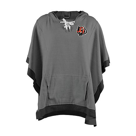 official photos 81a67 ce972 new! Officially Licensed NFL Heathered Hoodie Poncho - Cincinnati Bengals