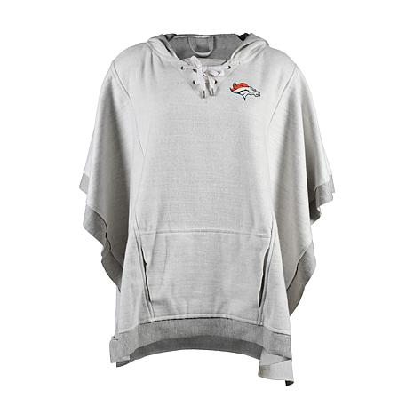 timeless design da376 19aad new! Officially Licensed NFL Heathered Hoodie Poncho - Denver Broncos
