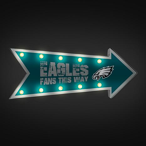 Officially Licensed Nfl Light Up Arrow Marquee Sign By Team Beans Eagles 8715023 Hsn