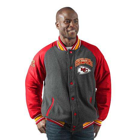 new product f0b9f 9aa9f Officially Licensed NFL Men's Power Hitter Varsity Jacket by Glll - Chiefs