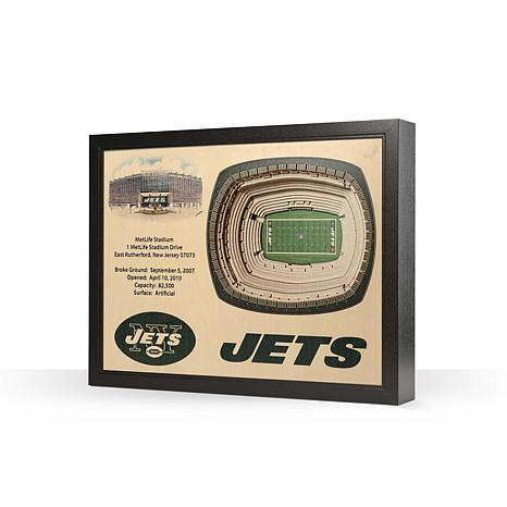 Officially Licensed NFL New York Jets 25-layer StadiumView 3D Wall Art