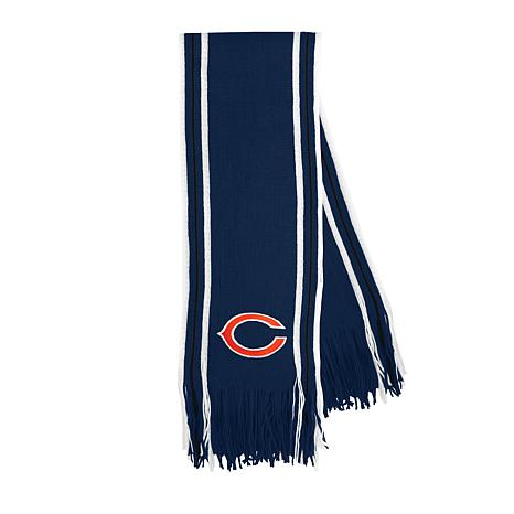 Officially Licensed NFL Team-Color Stripe Fringe Scarf - Bears