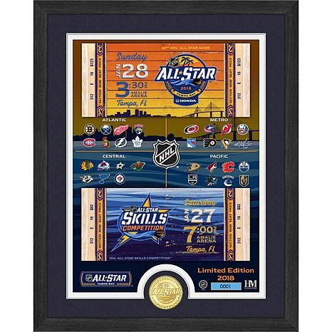 Officially Licensed NHL 2018 All-Star Game Ticket Frame & Bronze Coin
