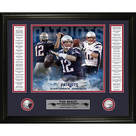 Officially Licensed Tom Brady Patriots Career Silver Coin Photo Mint