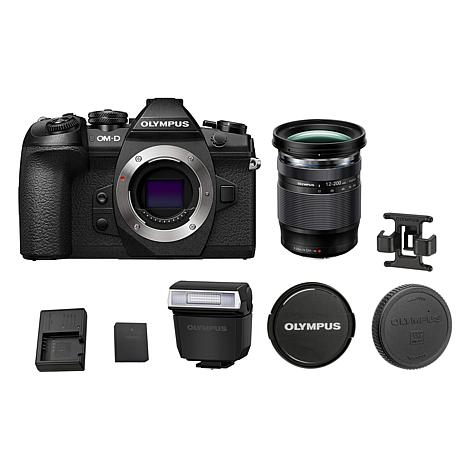 Olympus E-M1 Mark II Mirrorless Digital Camera with 12-200mm Lens
