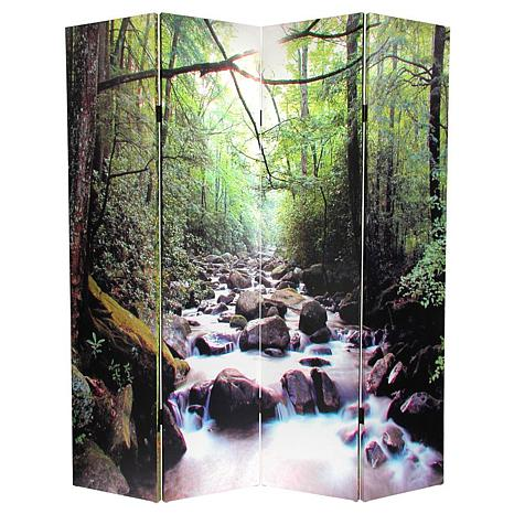 Oriental Furniture Path Of Life 4 Panel Room Divider