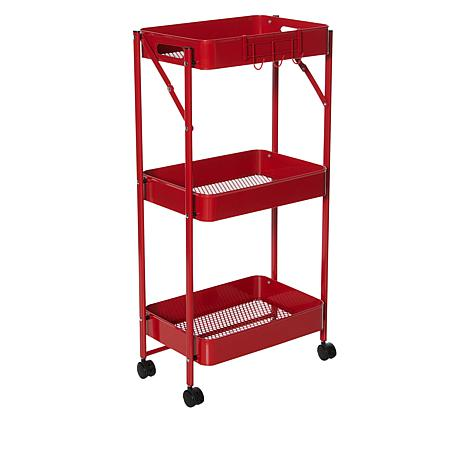 Origami 3-Tier Foldable Rolling Cart