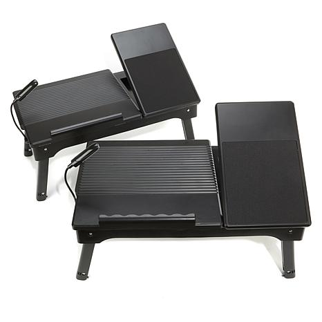 Origami Set Of 2 Laptop Tables With Usb Led 1838627 Hsn