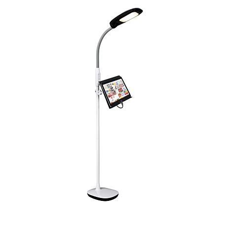 Ottlite Clearsun Led Floor Lamp With Tablet Stand Amp Usb