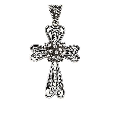 Ottoman jewelry sterling silver beaded cross pendant 8635759 hsn ottoman jewelry sterling silver beaded cross pendant aloadofball Choice Image