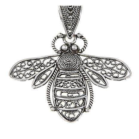 Ottoman jewelry sterling silver filigree bee pendant 8635736 hsn ottoman jewelry sterling silver filigree bee pendant aloadofball Images