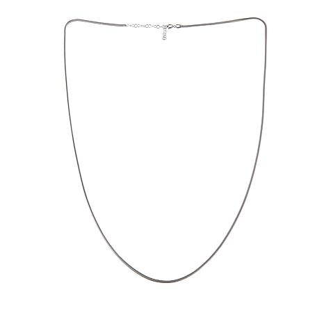 "Ottoman Silver Jewelry Collection 28"" Foxtail Chain Necklace"