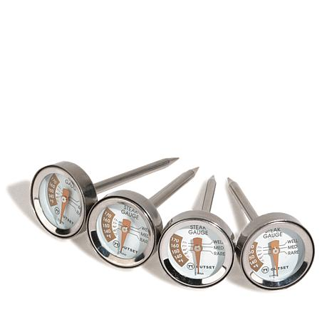Outset Grilling Set of 4 Individual Steak Thermometers