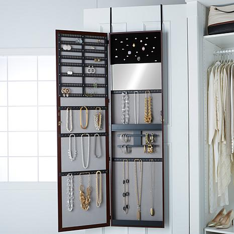 OvertheDoor 66 Jumbo Jewelry Armoire 7978396 HSN